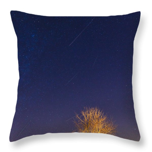 Meteor shower Throw Pillow by Alexey Stiop