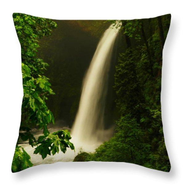 Metlako Falls Throw Pillow by Jeff  Swan