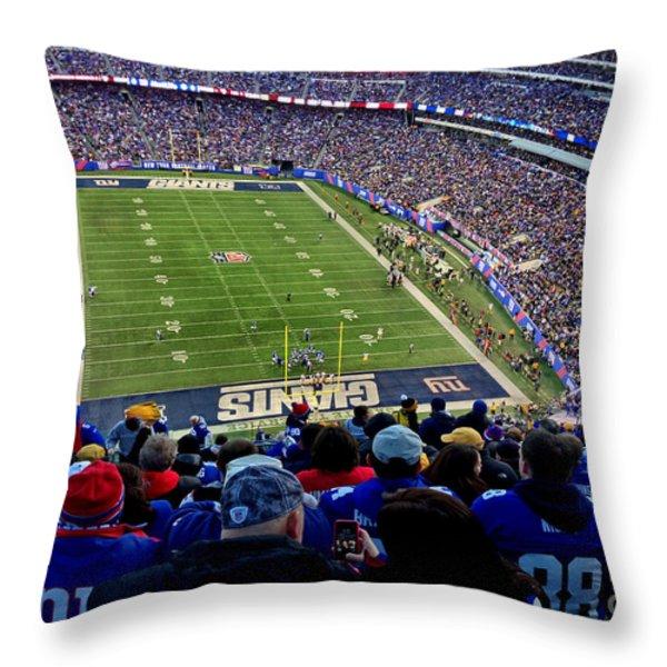 Metlife Stadium Throw Pillow by Gary Keesler