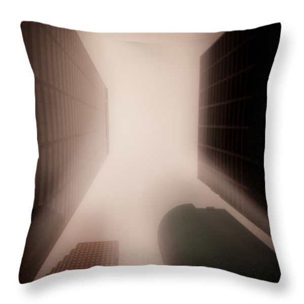 Metropolis Throw Pillow by Dave Bowman