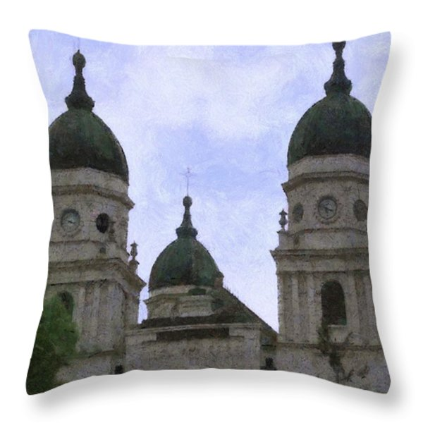 Metropolitan Cathedral Throw Pillow by Jeff Kolker