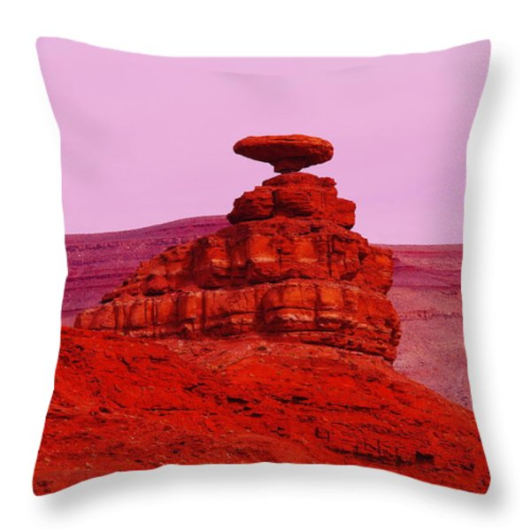 MEXICAN HAT  Throw Pillow by Jeff  Swan