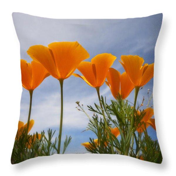 Mexican Poppies  Throw Pillow by Saija  Lehtonen