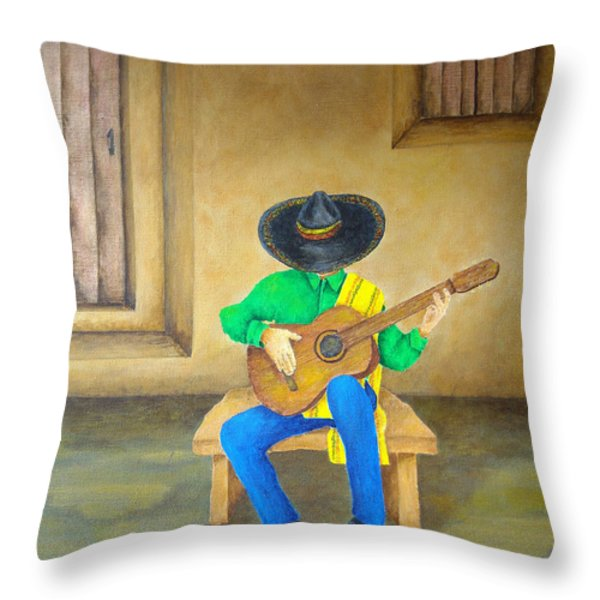 Mexican Serenade Throw Pillow by Pamela Allegretto
