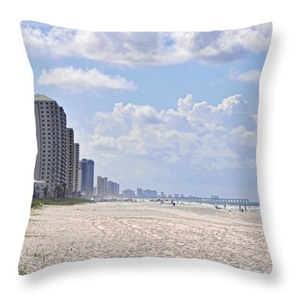 Mexico Beach Coastline Throw Pillow by Kenny Francis