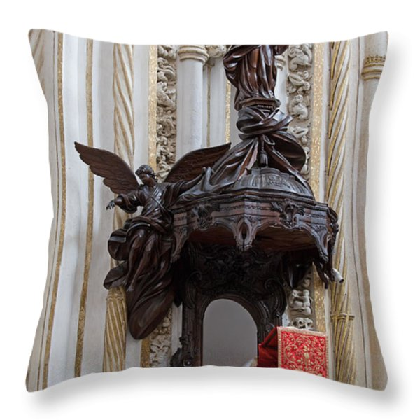 Mezquita Cathedral Pulpit in Cordoba Throw Pillow by Artur Bogacki