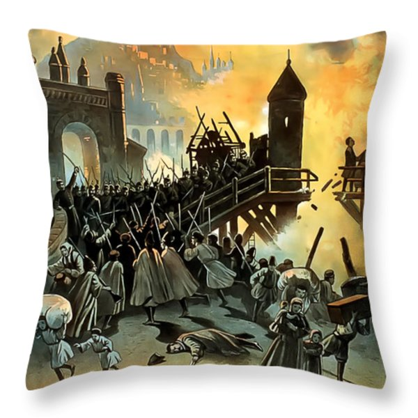 Micael Strogoff Throw Pillow by Terry Reynoldson