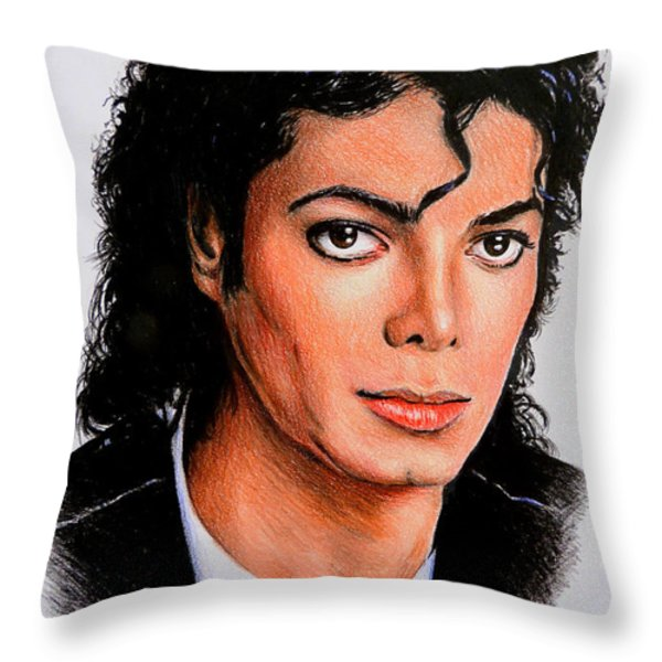 Michael Throw Pillow by Andrew Read