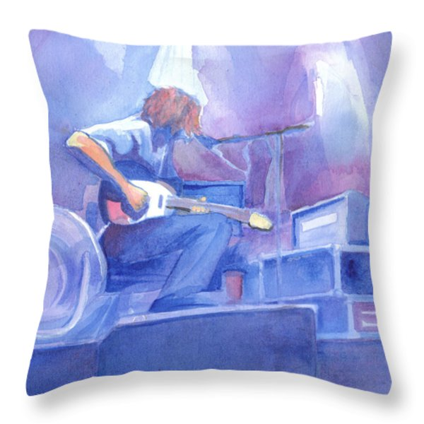 Michael Houser from Widespread Panic Throw Pillow by David Sockrider