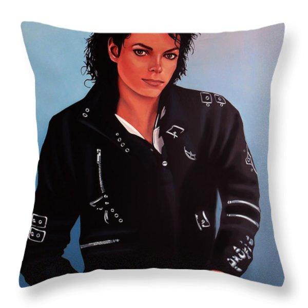 Michael Jackson Bad Throw Pillow by Paul  Meijering