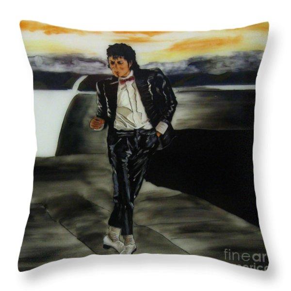 Michael Jackson Throw Pillow by Betta Artusi