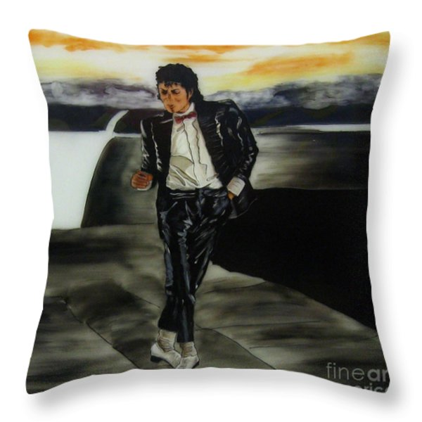 Michael Jackson Throw Pillow by Betta Artusi