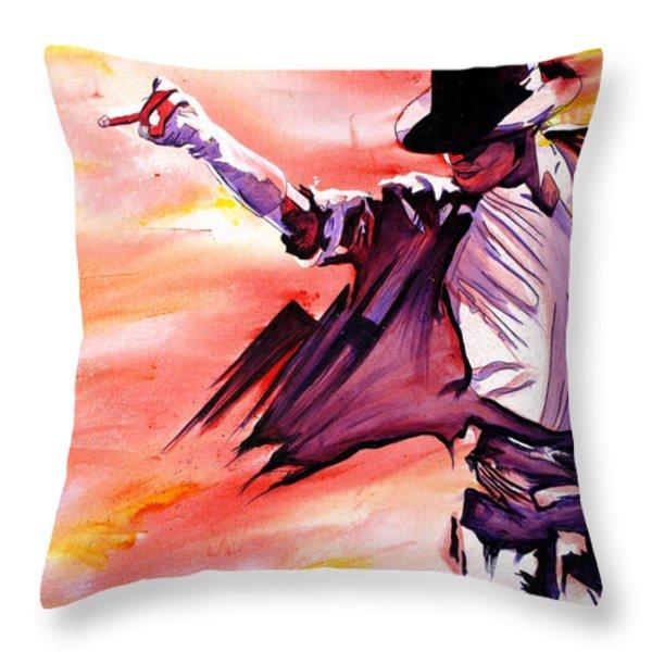 Michael Jackson-Billie Jean Throw Pillow by Joshua Morton