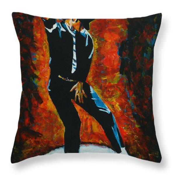 Michael Jackson Dancing The Dream Throw Pillow by Patrick Killian