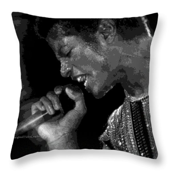 Michael Jackson .limited.edition.50. Throw Pillow by Leon Hollins III