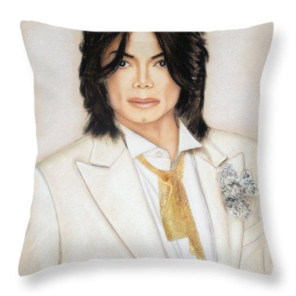 Michael Jackson Throw Pillow by Melanie D