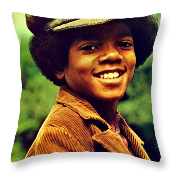 Michael Jackson Throw Pillow by Movie Poster Prints
