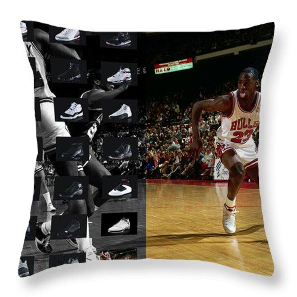 MICHAEL JORDAN SHOES Throw Pillow by Joe Hamilton