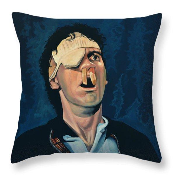 Michael Palin Throw Pillow by Paul  Meijering