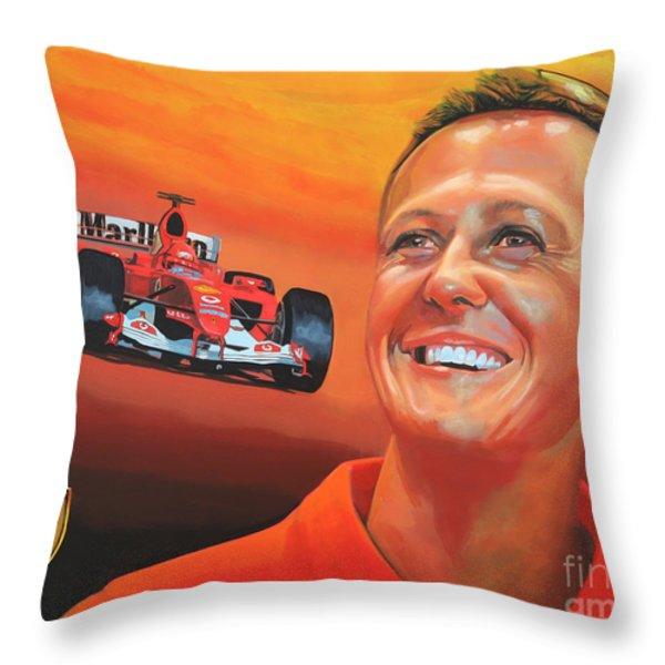 Michael Schumacher 2 Throw Pillow by Paul  Meijering