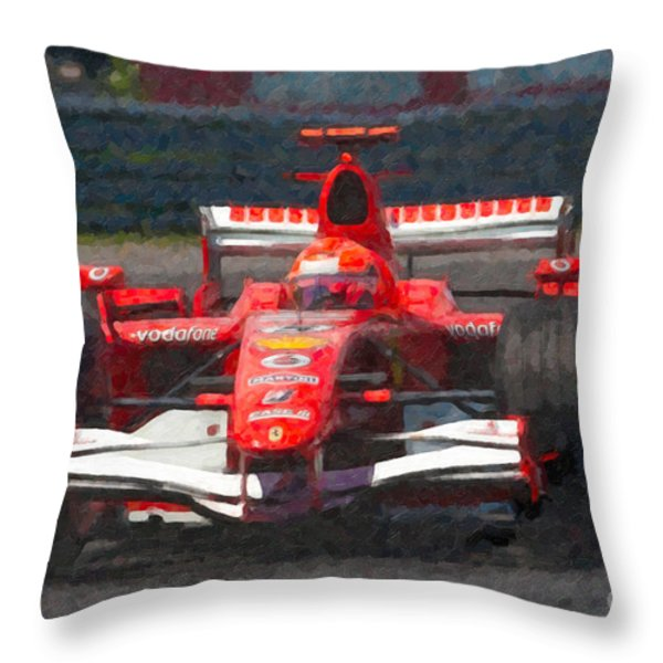 Michael Schumacher Canadian Grand Prix I Throw Pillow by Clarence Holmes