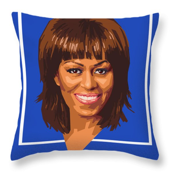 Michelle Throw Pillow by Douglas Simonson