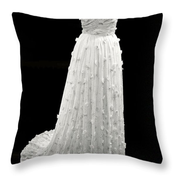 Michelle Obama's Inaugural Gown Throw Pillow by Cora Wandel