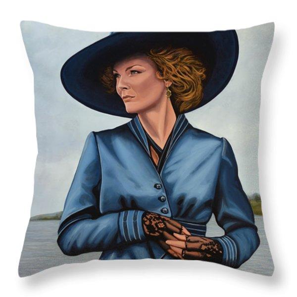 Michelle Pfeiffer Throw Pillow by Paul  Meijering