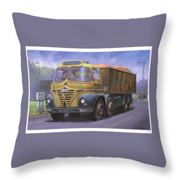 Mickey Mouse Foden. Throw Pillow by Mike  Jeffries