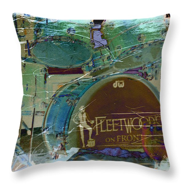 Mick's Drums Throw Pillow by Paulette B Wright
