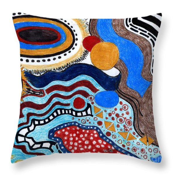 Microsopii 2 Throw Pillow by Genevieve Esson
