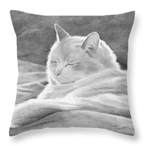 Mid-morning Meditation Throw Pillow by Suzanne Schaefer