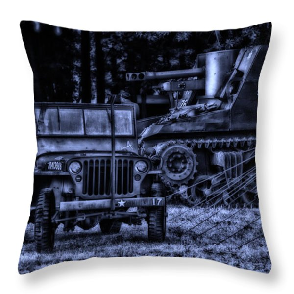 Midnight Battle And All Is Quite On The Front Lines Throw Pillow by Thomas Woolworth