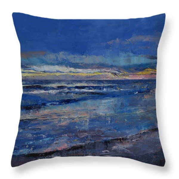 Midnight Blue Throw Pillow by Michael Creese