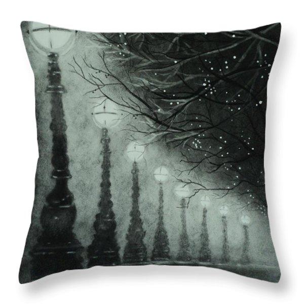 Midnight Dreary Throw Pillow by Carla Carson