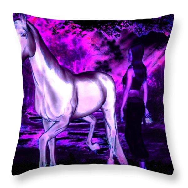 Midnight Fantasy Throw Pillow by Tisha McGee
