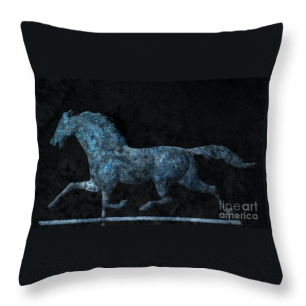 Midnight Run - Weathervane Throw Pillow by John Stephens