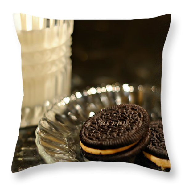 Midnight Snack Throw Pillow by Lois Bryan