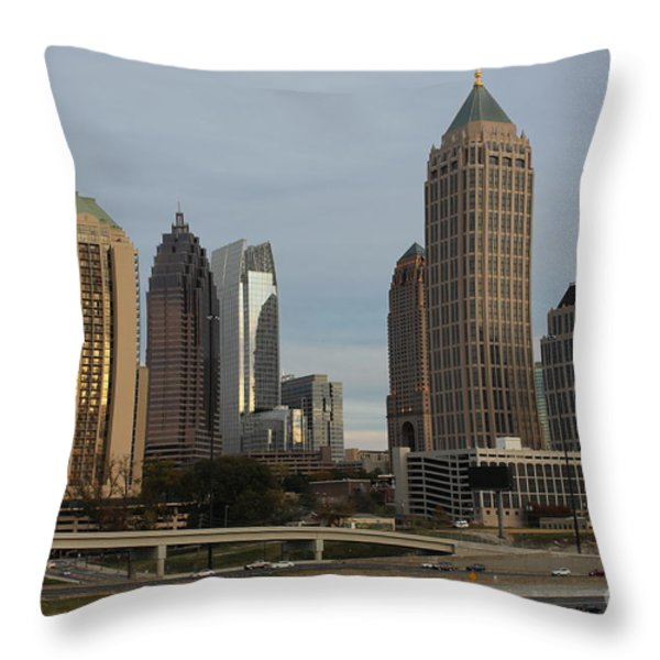 Midtown Atlanta Throw Pillow by Reid Callaway
