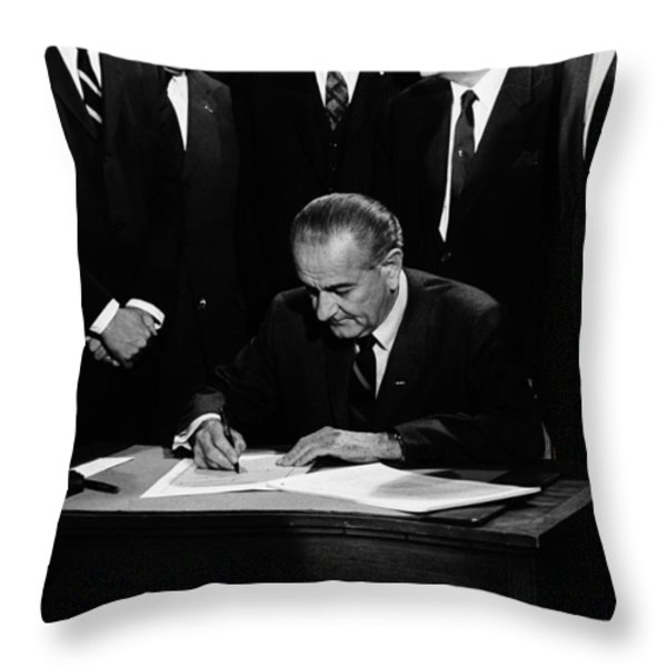 Mightier than the Sword Throw Pillow by Benjamin Yeager