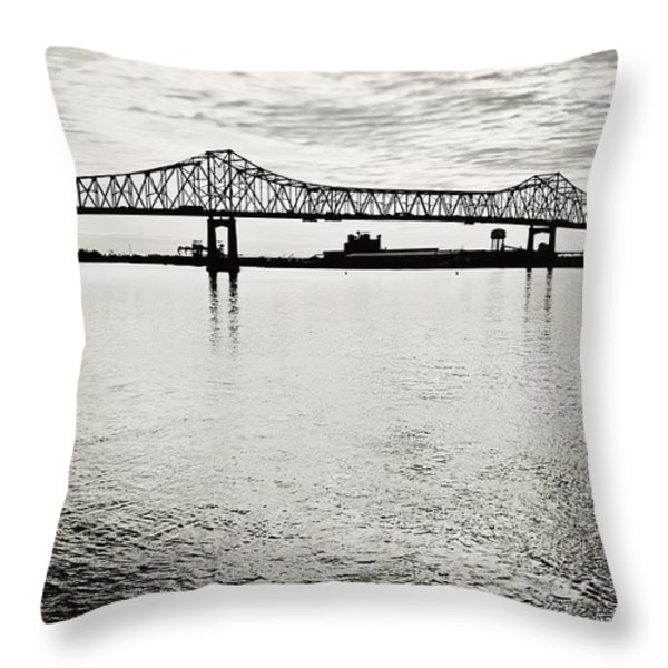 Mighty River Throw Pillow by Scott Pellegrin