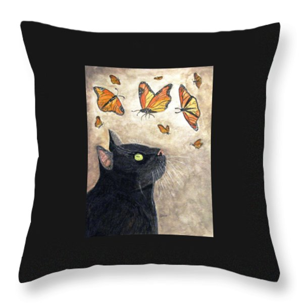Migration Throw Pillow by Angela Davies