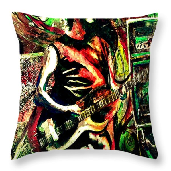 Mike Gordon At Deer Creek Throw Pillow by Kevin J Cooper Artwork