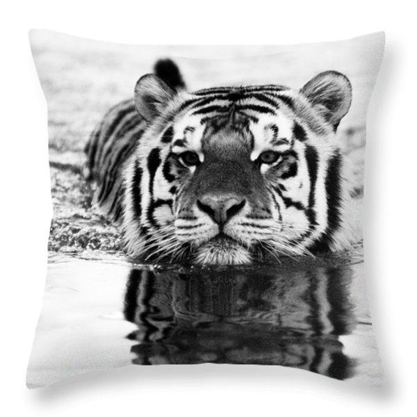 Mike Throw Pillow by Scott Pellegrin