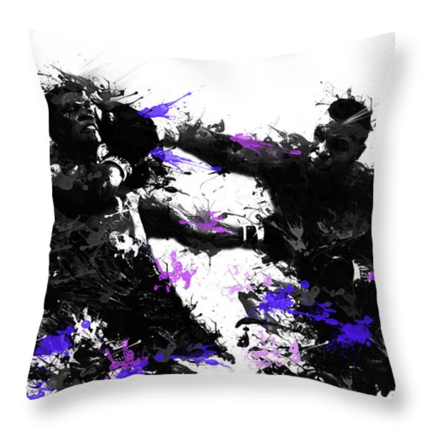 Mike Tyson Throw Pillow by MB Art factory