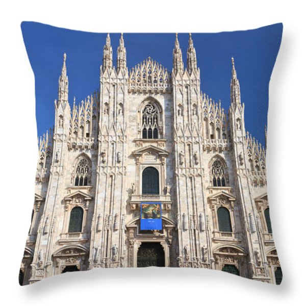 Milan cathedral  Throw Pillow by Antonio Scarpi