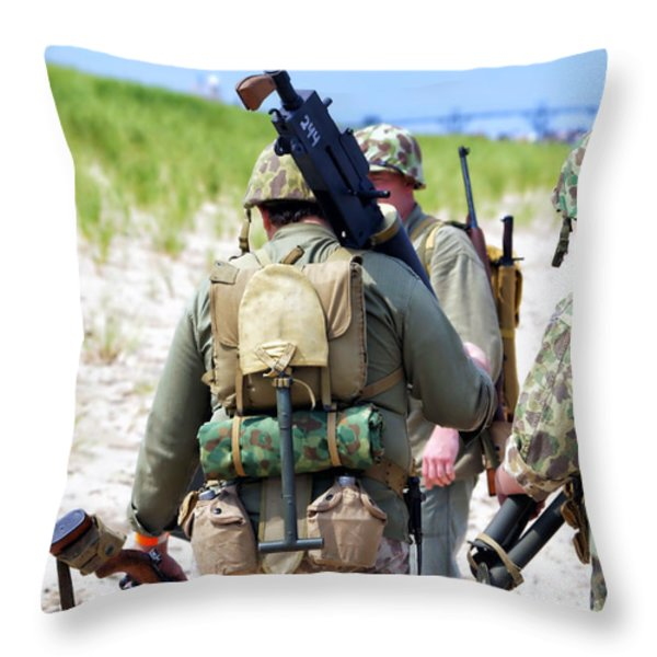 Military Small Arms 03 WW II Throw Pillow by Thomas Woolworth