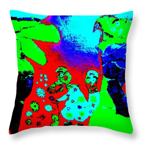 Military trolls Throw Pillow by Else Margrethe Widerberg