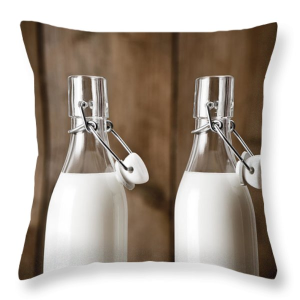 Milk Throw Pillow by Amanda And Christopher Elwell