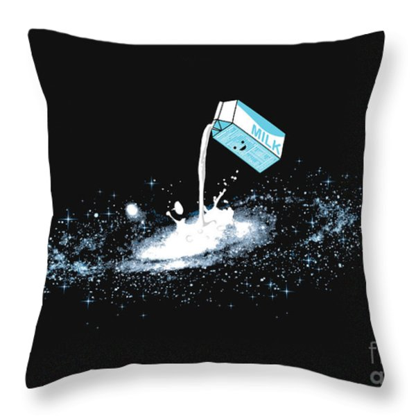 Milky Way Throw Pillow by Budi Satria Kwan